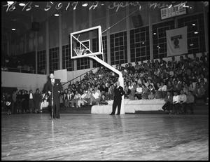Primary view of object titled '[Opening Ceremony Basketball Game Against TX Aggies]'.