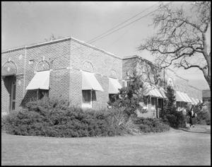 Primary view of object titled '[Old Hospital Exterior]'.