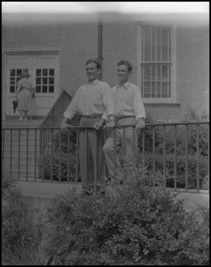 Primary view of object titled '[Tommy Hardy with Man]'.