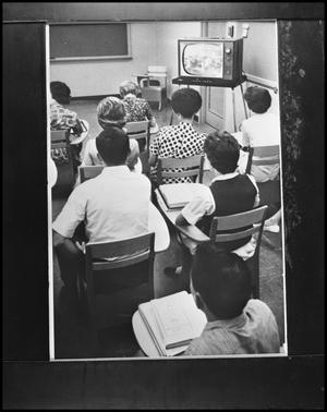 Primary view of object titled '[Closed Circuit Television in Laboratory School]'.
