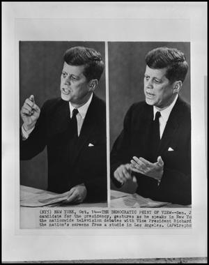 Primary view of object titled '[JFK on Fort Worth TV]'.