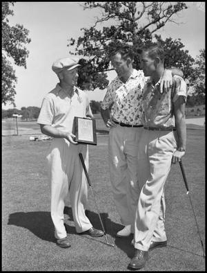 Primary view of object titled '[Golfers with Trophy]'.
