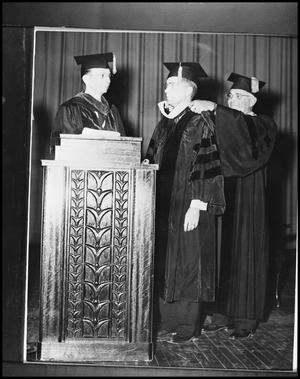 Primary view of object titled '[Harold Hitt Graduating With Doctorate]'.