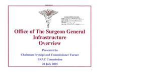 Primary view of object titled 'Base Input - Office of The Surgeon General Infrastructure Overview Presentation -'.