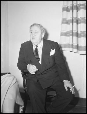 Primary view of object titled '[Charles Laughton and Sam McAlister]'.