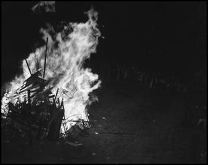 Primary view of object titled '[1941 Homecoming Bonfire]'.