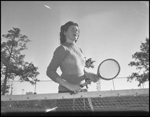 Primary view of object titled '[Bessie Grubbs Plays Tennis #1]'.