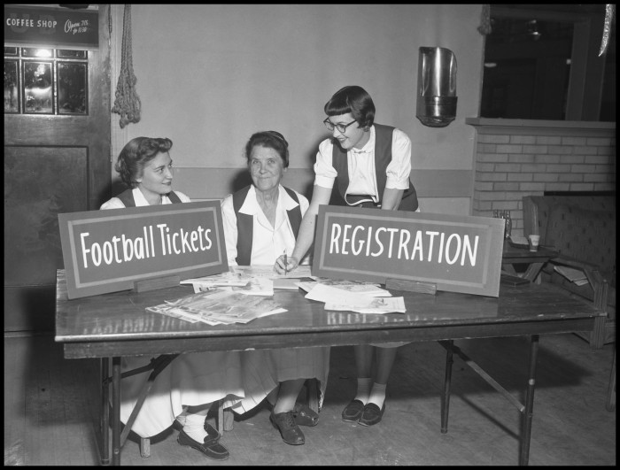 Miss Beula Harriss with Two Green Jackets] - Digital Library