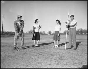 Primary view of object titled '[Student Golfer]'.