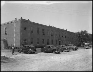 Primary view of object titled '[Exterior of the Journalism Building]'.