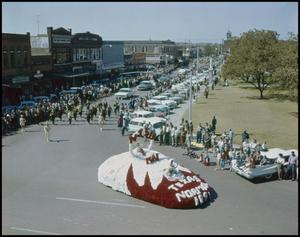 Primary view of object titled '[Homecoming Parade at Denton Square]'.