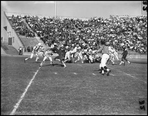 Primary view of object titled '[North Texas Vs. Tulsa Football Game, 1961]'.