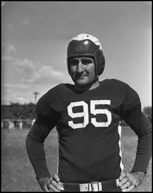 Primary view of object titled '[Jersey Number 95 Football Player, 1942]'.