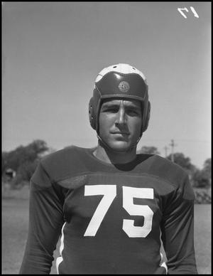 Primary view of object titled '[Jersey Number 75 Football Player]'.