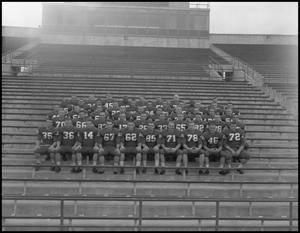 Primary view of object titled '[North Texas State University Football Team, September 1962 #1]'.