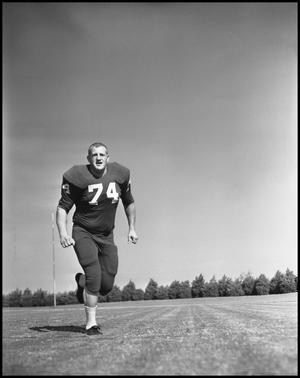 Primary view of object titled '[Jersey Number 44 Football Player, 1961-1962]'.