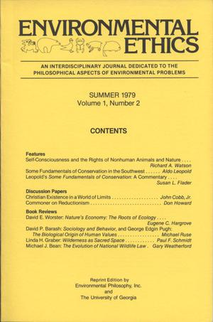 Primary view of object titled 'Environmental Ethics, Volume 1, Number 2, Summer 1979'.