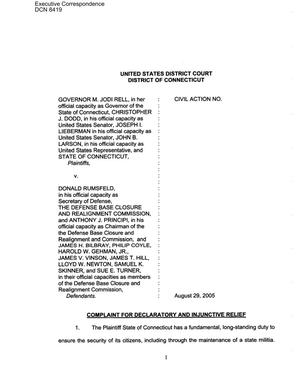 Primary view of object titled 'Civil Action No. 05-CV-3563 – Edward Rendell v. Donald Rumsfeld'.