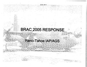 Primary view of object titled 'Base Input Reno Tahoe International Airport Air National Guard Station dtd 26 July 2005'.