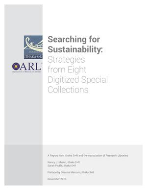 Primary view of object titled 'Searching for  Sustainability:  Strategies  from Eight  Digitized Special  Collections'.