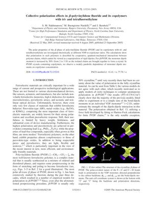 Primary view of object titled 'Collective polarization effects in β-polyvinylidene fluoride and its copolymers with tri- and tetrafluoroethylene'.