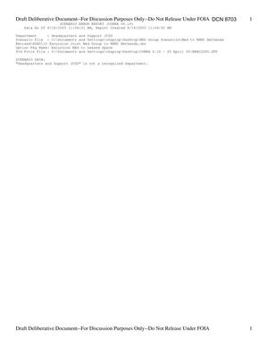 Primary view of object titled 'Department of Defense Clearinghouse Response: DoD Clearinghouse Response to a letter from the BRAC Commission regarding Joint Medical Group Bethesda.'.