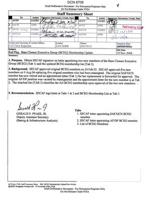 Primary view of object titled 'Memorandum dtd 12/13/04 from Secretary of the Air Force James Roche'.