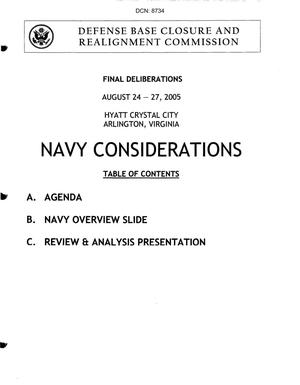 Primary view of object titled 'Navy Book 1 Final deliberations, Part 1of 7'.