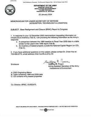 Primary view of object titled 'ASA(I&E) Memo - 040123 - BRAC Report to Congress'.