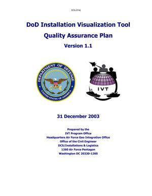 Primary view of object titled 'Dept of the Army Supporting Analysis, DoD Installation Visualization Tool (31 Dec 03)'.