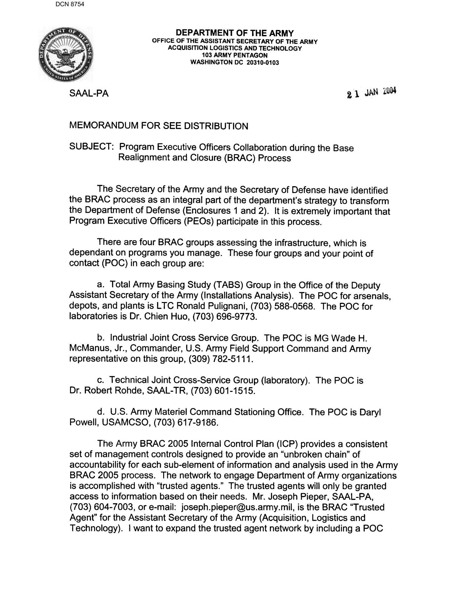 Memorandum For See Distribution Page 1 Of 3 Digital