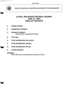 Primary view of object titled 'Clovis New Mexico Regional Hearing June 24, 2005'.