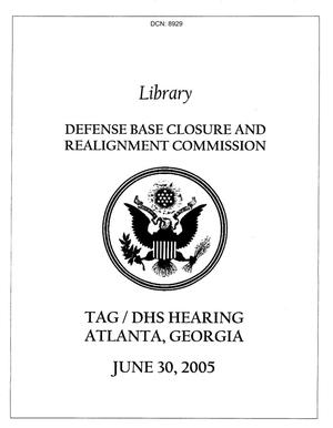 Primary view of object titled 'Tag Hearing Book - Adjutant General Hearing Atlanta Georgia'.