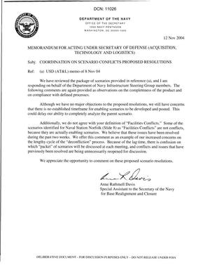 Primary view of object titled 'O-MM-0245-a DON Response to 08 Nov Memo'.