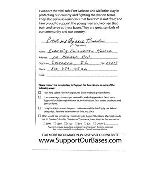Primary view of object titled 'Volume V of a Petition in several volumes forwarded to the BRAC Commission on 06/14/05 by SC Senator Lindsey Graham in support of Fort Jackson and McEntire ANG Station.'.
