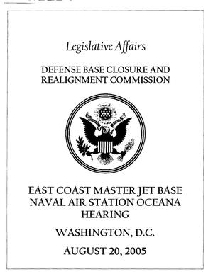 Primary view of object titled 'MJBH1 Master Jet Base Hearing Book 082005 Washington DC'.