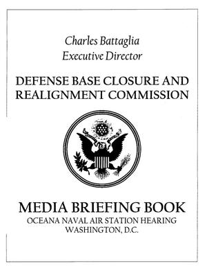 Primary view of object titled 'MJBH1 Media Briefing Book Master Jet Base Hearing 082005 Washington DC'.