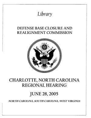 Primary view of object titled 'RH8 Regional Hearing Book 062805 Charlotte, NC'.