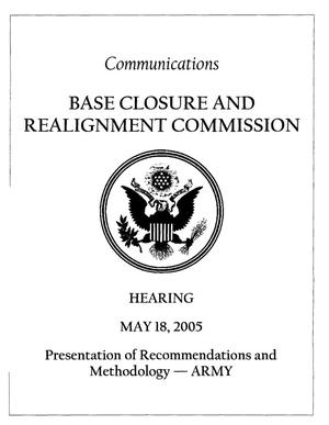 Primary view of object titled 'H-5-18-1 Hearing Book 051805 Washington DC'.