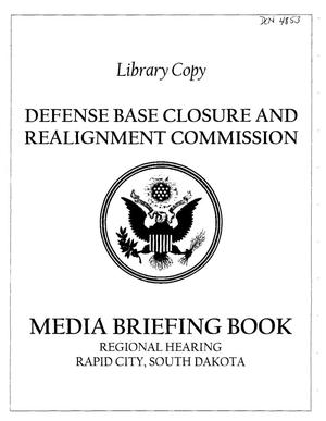 Primary view of object titled 'RH4 Media Briefing Book RH 062105 Rapid City, SD'.