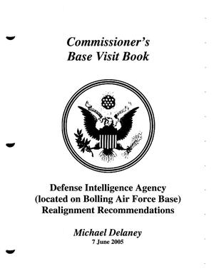 Primary view of object titled 'DA10A Base Visit Book Defense Intelligence Agency Washington DC'.