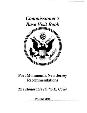 Primary view of object titled 'A8 Base Visit Book Ft Monmouth, NJ - June 29, 2005'.