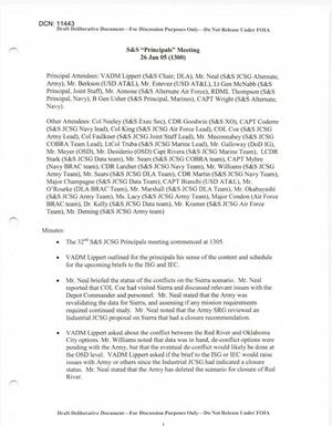 Primary view of object titled 'S&S JCSG 30 Minutes 26 Jan 05.pdf'.