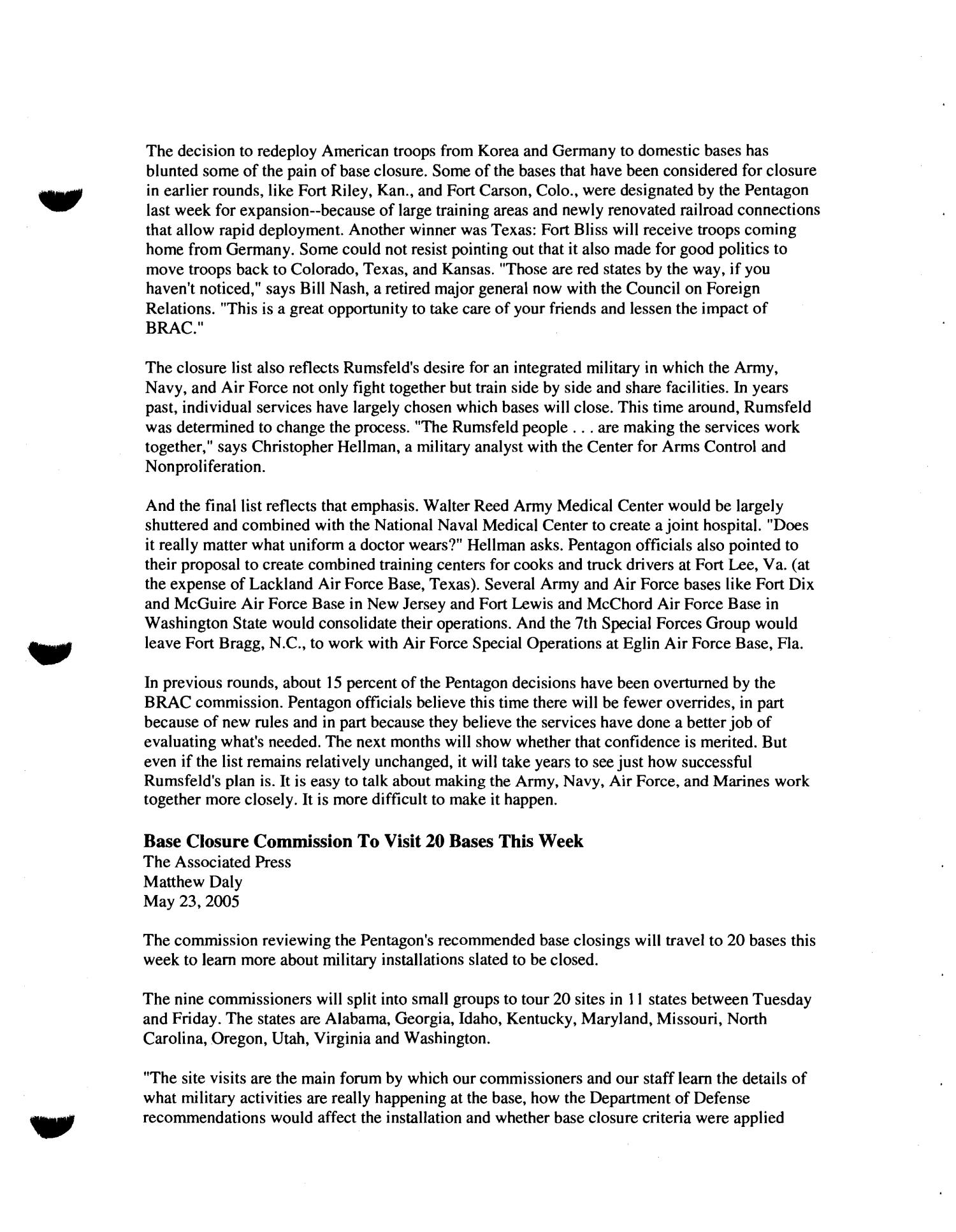 RH3 Media Hearing Book - June 20, 2005 St Louis, MO                                                                                                      [Sequence #]: 21 of 81