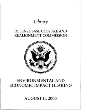 Primary view of object titled 'IH2 Informational Hearing Book - August 11, 2005 Washington DC'.