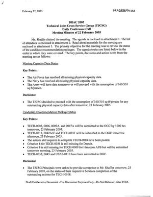 Primary view of object titled 'Technical JCSG 101T Minutes 22 Feb 05.pdf'.