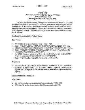 Primary view of object titled 'Technical JCSG 105T Minutes 28 Feb 05.pdf'.