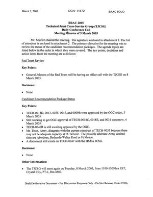 Primary view of object titled 'Technical JCSG 109T Minutes 03 Mar 05.pdf'.