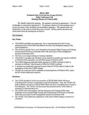 Primary view of object titled 'Technical JCSG 110T Minutes 04 Mar 05.pdf'.