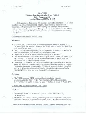 Primary view of object titled 'Technical JCSG 116T Minutes 11 Mar 05.pdf'.